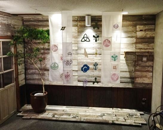 2016年4月15日「花が咲く。花を贈ろう。」紋切りあそびの展示とワークショップ(群言堂 上野桜木店)