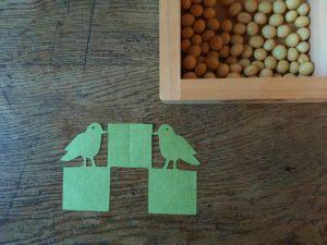 もんきり「対い鳩と三ツ石」