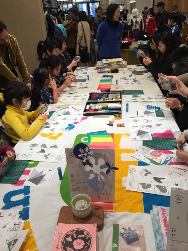 20161217『MAMMOTH SCHOOL & URBAN RESEARCH DOORS  ~冬の紋切りを楽しもう~』 もんきりワークショップ
