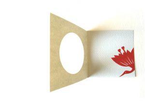 のぞき紋 制作例 丸窓つきカード