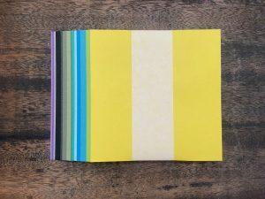 ネットショップ ものプランテ 【涼風の季節限定色】:100枚セット 紋切り用紙 和紙折り紙(15cm)